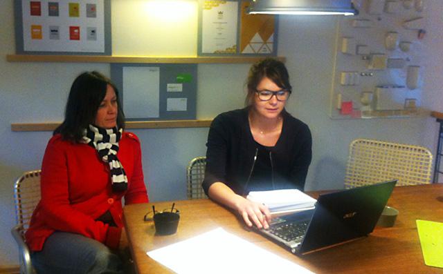 Exjobbsmöte med vår expraktikant Erica