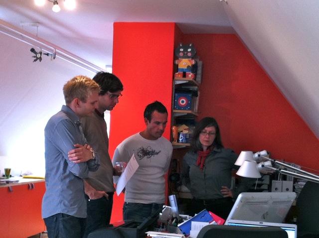 Skissmöte med Martin och Jonas på Findus Foodservices