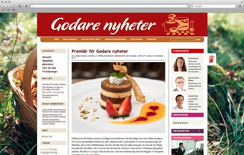Findus Foodservices. Strategi för sociala medier, kampanjblogg och coaching.