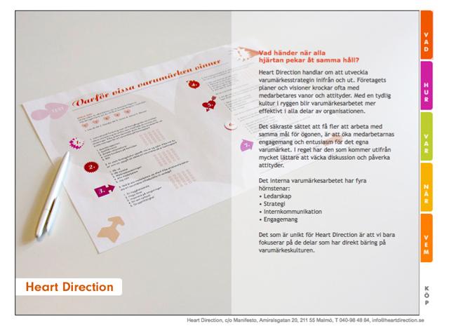 Internt varumärkesarbete = Heart Direction™