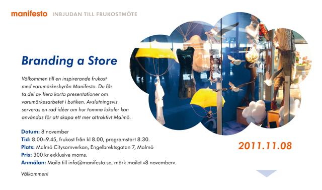 Branding a Store: Seminarium hos Malmö Citysamverkan