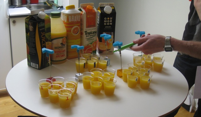 Manifesto testar: Apelsinjuice!