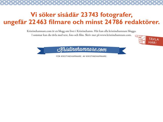 annons i NKP för bloggen Kristinehamnare.com