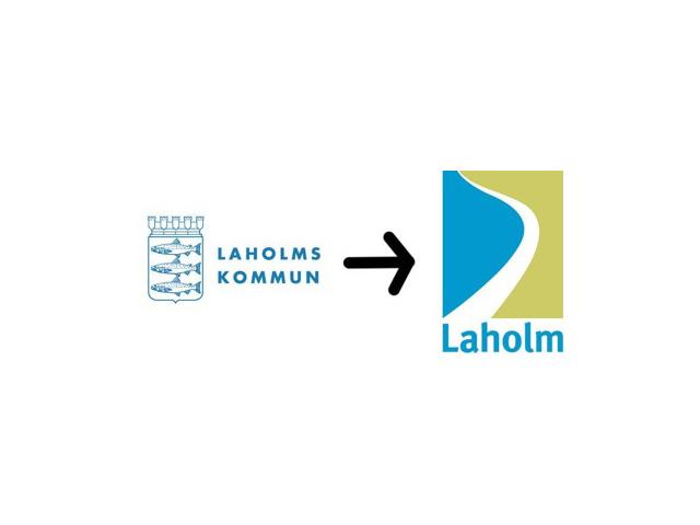 Laholm får också ny logotyp