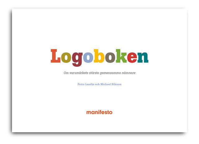 Logoboken från Manifesto med tankar kring varumärke och logotyp