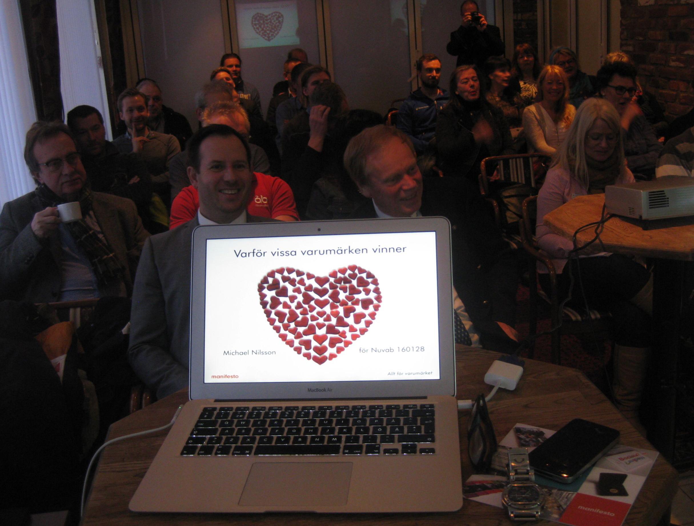 Föredrag om nollbudget branding för Nuvab i Vetlanda