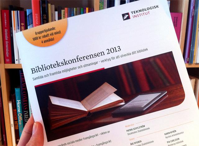 Michael Nilsson håller heldag på Bibliotekskonferensen 2013