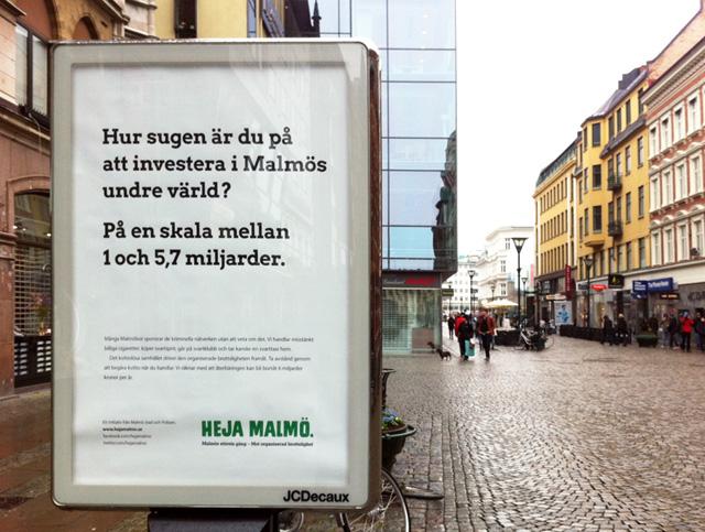 Heja Malmö – sjätte bästa utomhuskampanjen i Sverige